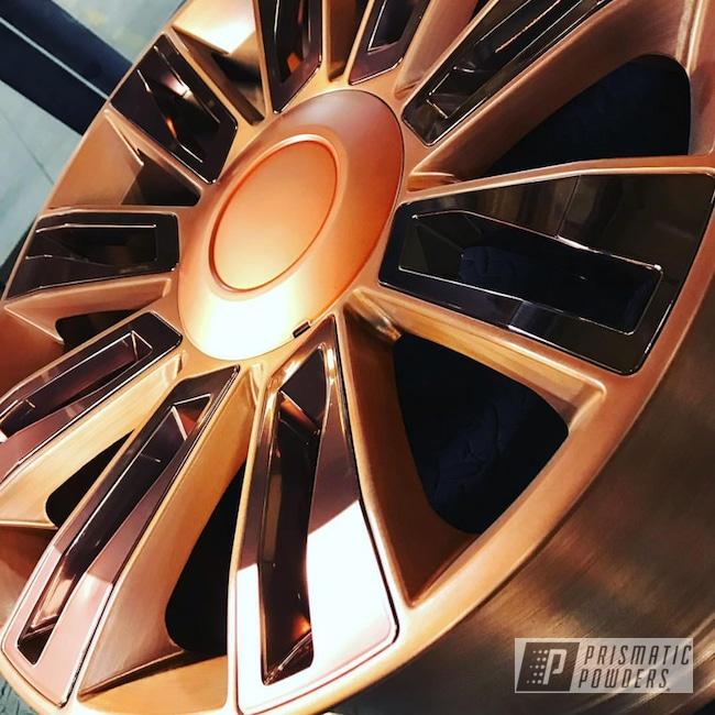 Wheel In A Cashmere Copper Powder Coat