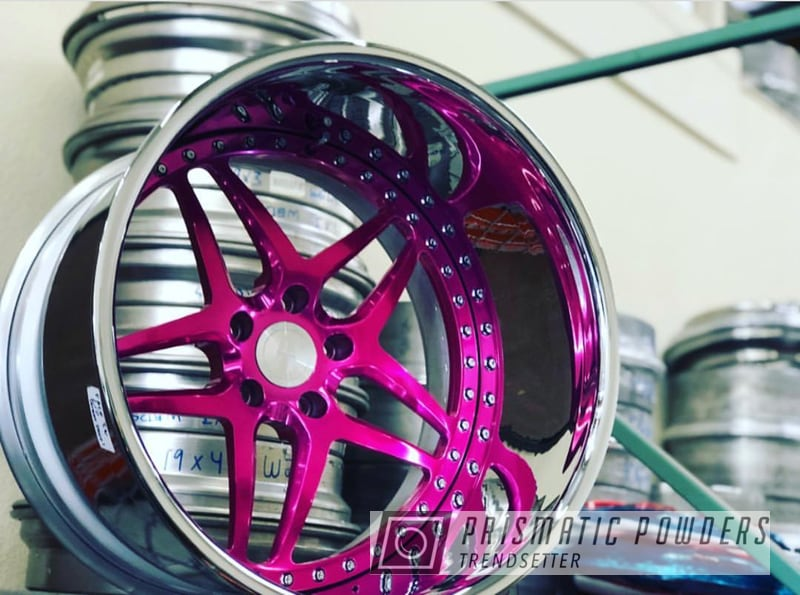 Custom Wheel Done In A Candy Raspberry Powder Coat
