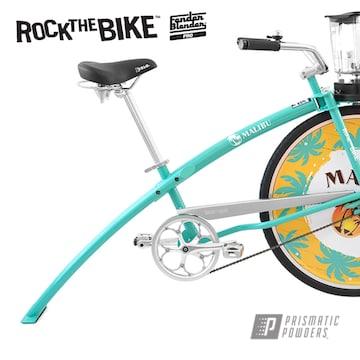Custom Bicycle Frame Done In A Tropical Breeze Powder Coat