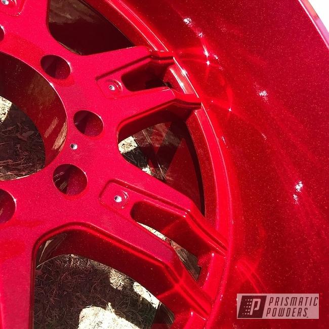 Powder Coating: Wheels,Automotive,Clear Vision PPS-2974,Custom Powder Coated Wheels,Illusion Cherry PMB-6905