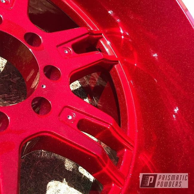 Powder Coating: Wheels,Automotive,Clear Vision PPS-2974,Custom Powder Coated Wheels,Illusion Cherry PMB-6905