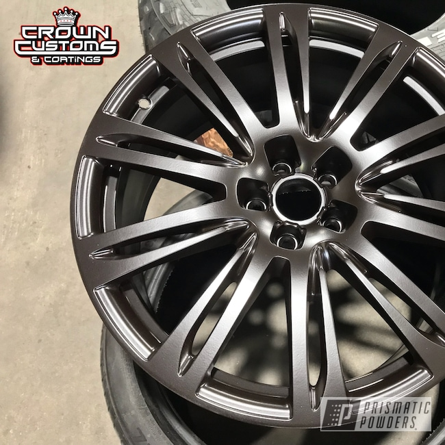 Powder Coating: Wheels,Automotive,Audi Wheels,Powder Coated Audi Rims,Dark Chocolate PSB-6690,Audi