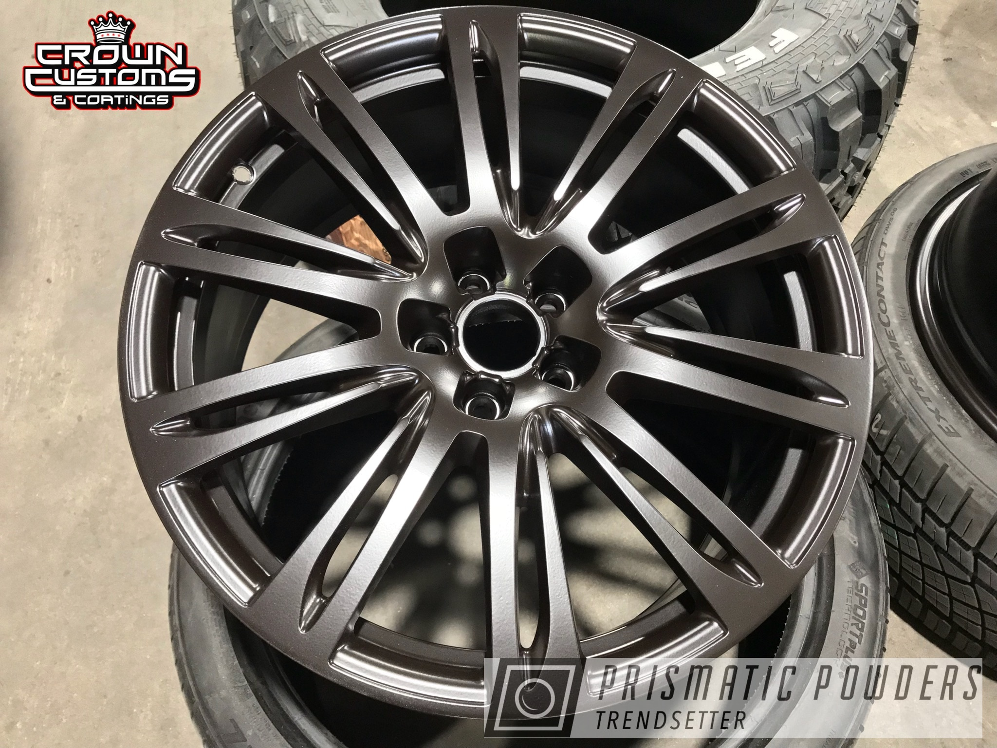 Powder Coating: Wheels,Automotive,Audi Wheels,Powder Coated Audi Rims,Dark Chocolate PSB-6690,Audi