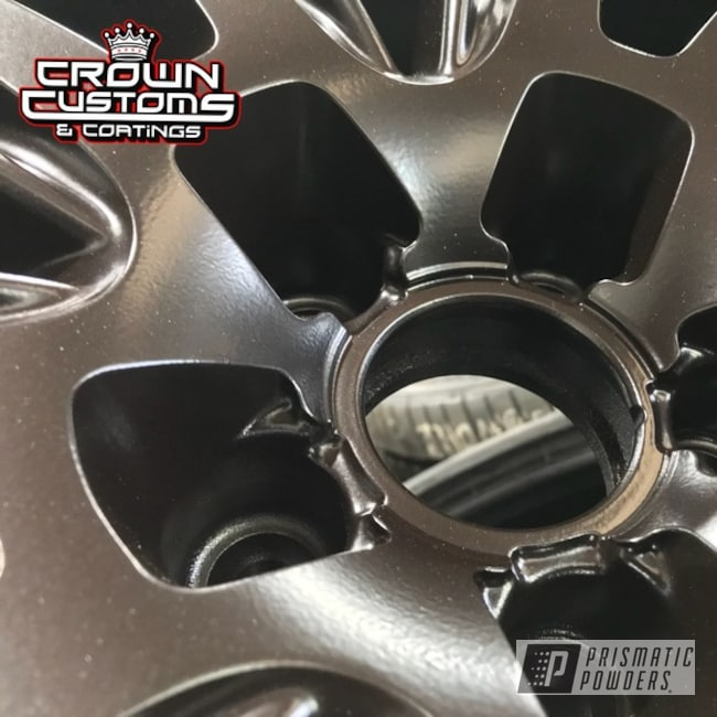 Audi Wheels Refinished In A Dark Chocolate Powder Coat