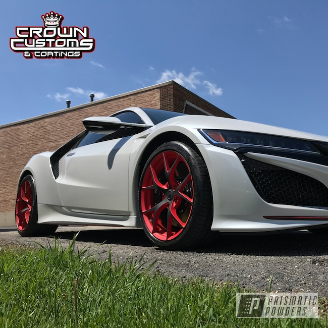 Powder Coating: Wheels,Nsx Wheels,Automotive,Really Red PSS-4416,Acura,Casper Clear PPS-4005,Acura NSX