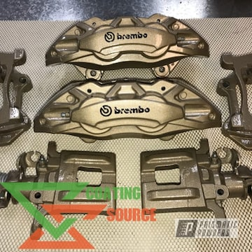 Brakes Redone In Bismark Gold, Brembo Logo And Clear Vision