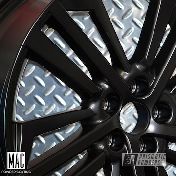 Audi Wheels Done In A Silk Satin Black Powder Coat