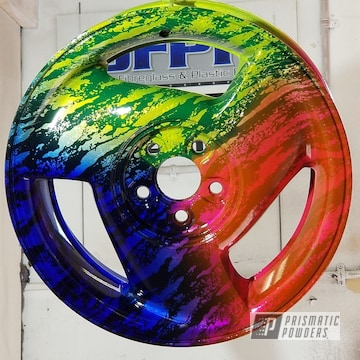 Custom Powder Coated Wheels In A Multi-color Finish