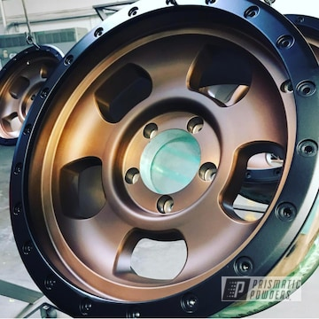 Two Toned Wheels Dine In Black Jack And Transparent Bronze Powder Coating