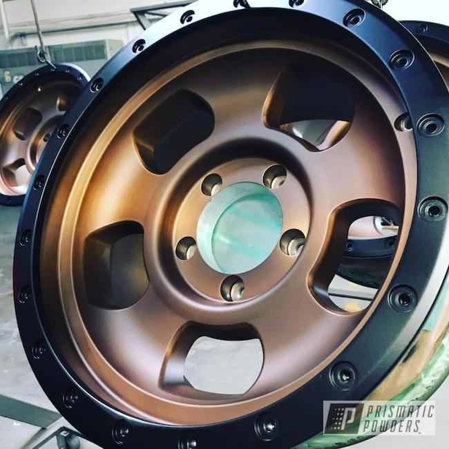 Powder Coating: Wheels,Automotive,BLACK JACK USS-1522,Custom Wheels,Two tone rims,Transparent Bronze PPB-5759,Two Toned