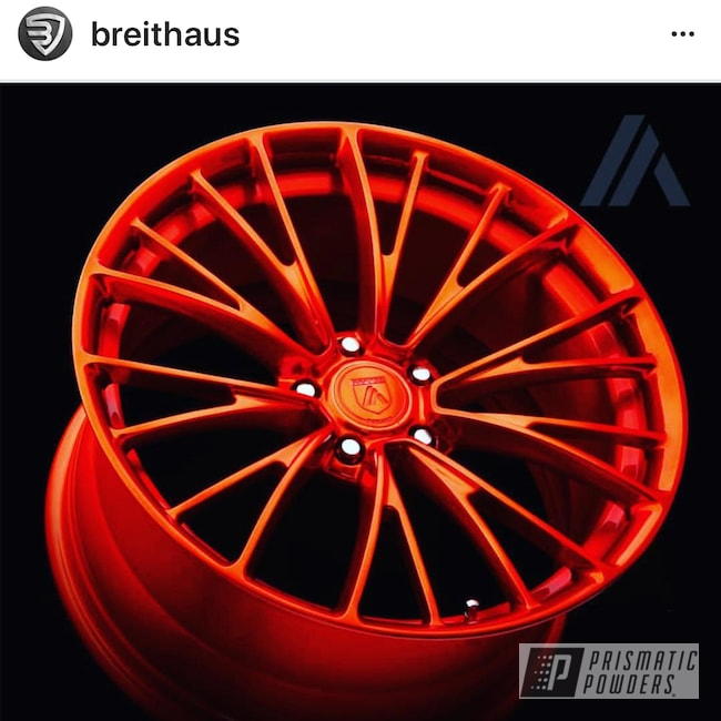 Powder Coating: Wheels,Automotive,Custom Wheels,Orange Sherbert PPB-8044,Orange Sherbert