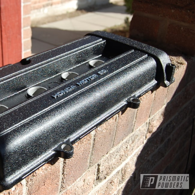 Powder Coating: Honda Valve Cover,Honda,Textured Finish,Desert Nite Black PWS-2859,Textured,Valve Cover