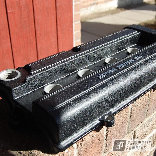 Powder Coating: Honda Valve Cover,Honda,Textured Finish,Desert Nite Black PWS-2859,Textured,Valve Cover