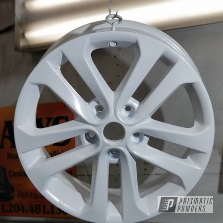 Powder Coating: Wheels,Automotive,Custom Rims,Metallic White PMB-6766