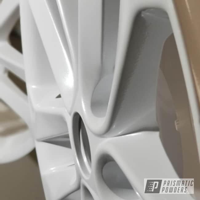 Powder Coating: Wheels,Automotive,Custom Rims,Metallic White PMB-6766
