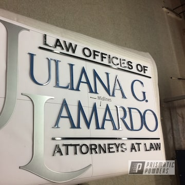 Great Color Blue For The Letters On A Recently Completed Law Office Sign