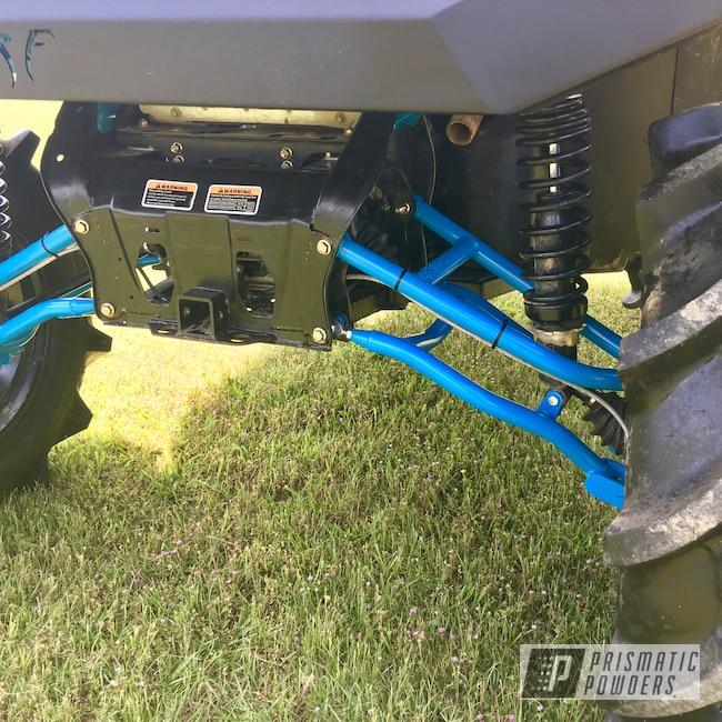 Powder Coating: Off Road,Custom Powder Coated Frame,UTV,side by side,Grumpy Blue PSB-6840,Custom Powder Coated Can-am Parts