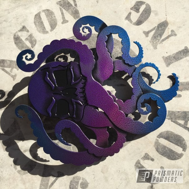 Powder Coating: Crown Blue PPB-4982,Custom Art,Art,Black Frost PVS-3083,Silk Satin Black HSS-1336,Cedar Purple PPB-5782,Octopus,LOLLYPOP BERRY UPS-1509,Miscellaneous