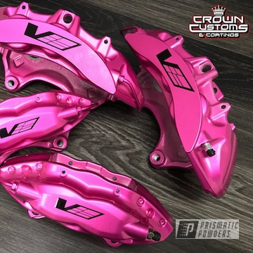 Cadillac Cts-v Gen 2. Calipers Refinished In Illusion Pink With Clear Vision Top Coat