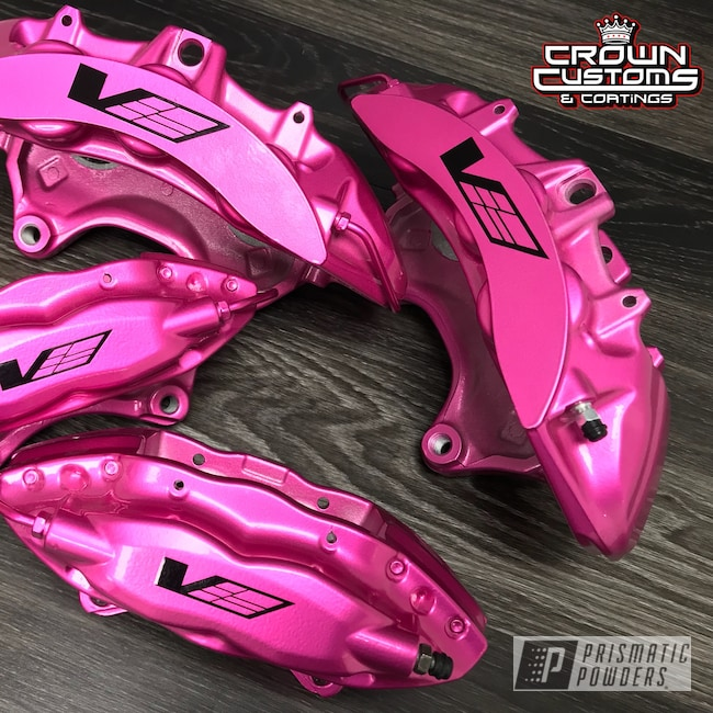Powder Coating: Automotive,Calipers,Clear Vision PPS-2974,Brakes,Cadillac CTS-V,Brembo Calipers,Brembo,Illusion Pink PMB-10046,Clear Vision Top Coat,Brembo Brakes,Brembo Brake Calipers,Custom Brake Calipers
