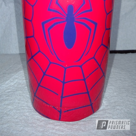 Powder Coating: RAL 3027 Raspberry Red,Clear Vision PPS-2974,Tumbler,cup,Two Stage Application,Spiderman,RAL 5022 Night Blue,Custom Tumbler Cup