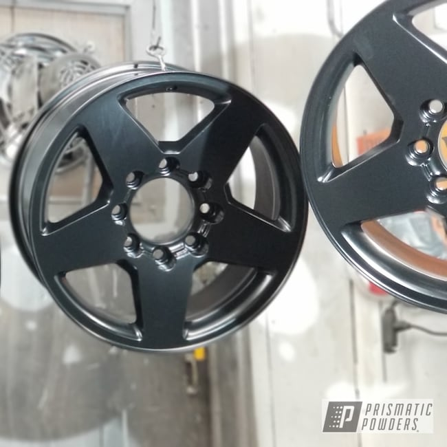 Powder Coating: Matt Black PSS-4455,Wheels,Automotive,Custom Rims