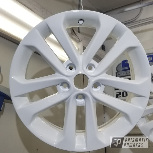 Powder Coating: Wheels,Automotive,Custom Rims,Gloss White PSS-5690