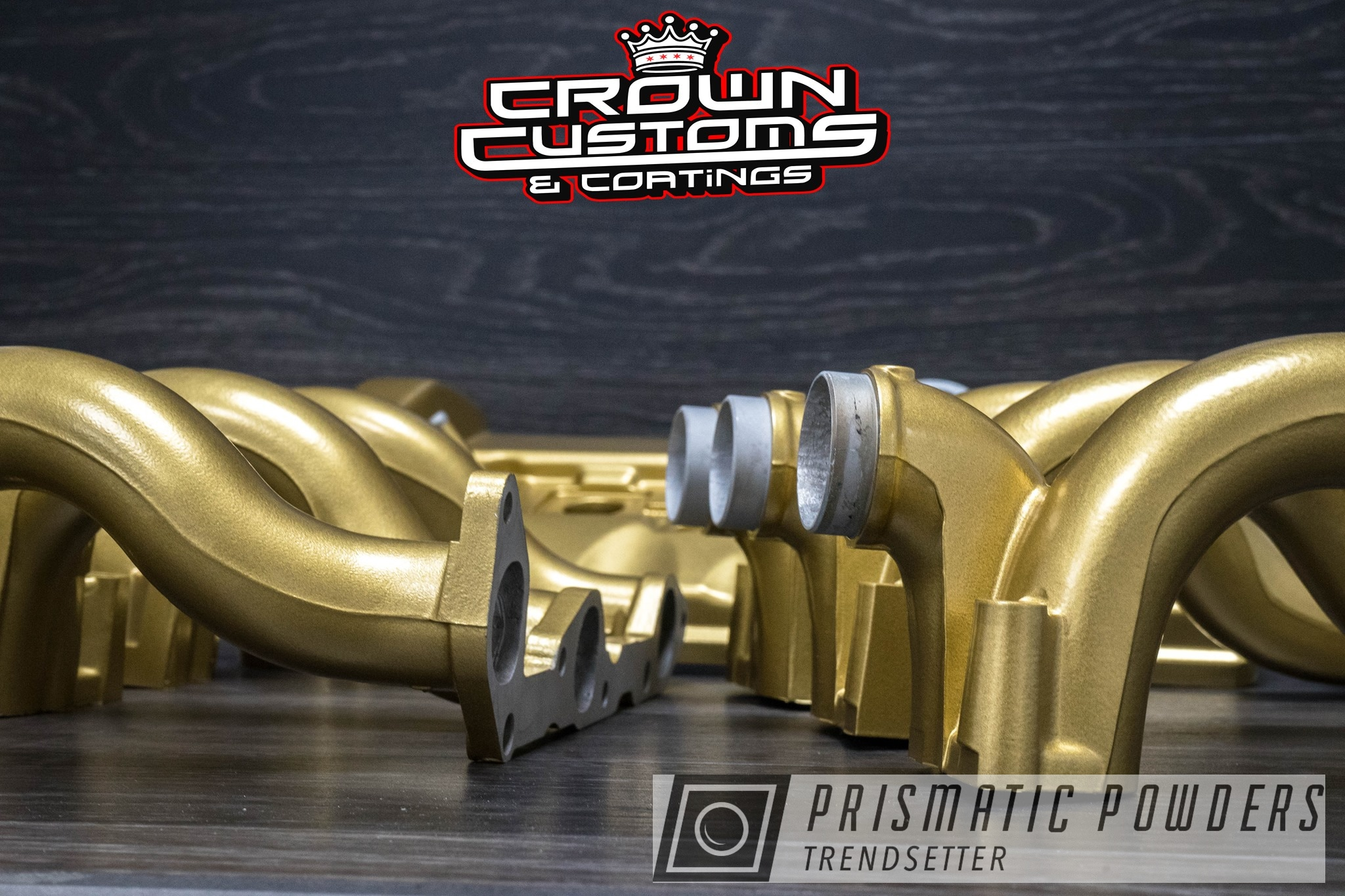 Powder Coating: Custom Engine Parts,Subtle Gold EMB-4110,powder coating,Engine Parts