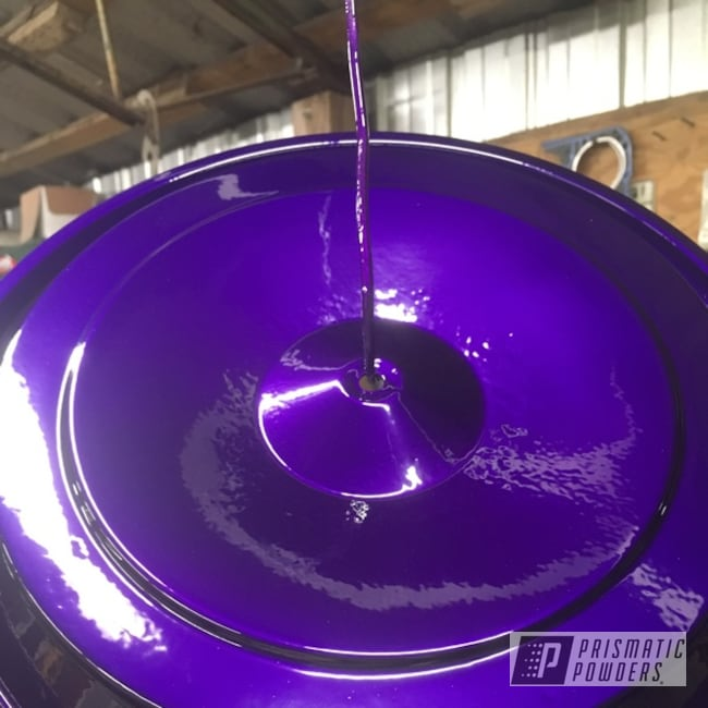 Powder Coating: Illusion Purple PSB-4629,Clear Vision PPS-2974,Valve Covers,Two Coat Application