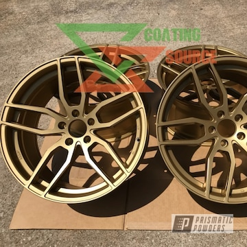 Satin Poly Cold Powder Coated Wheels