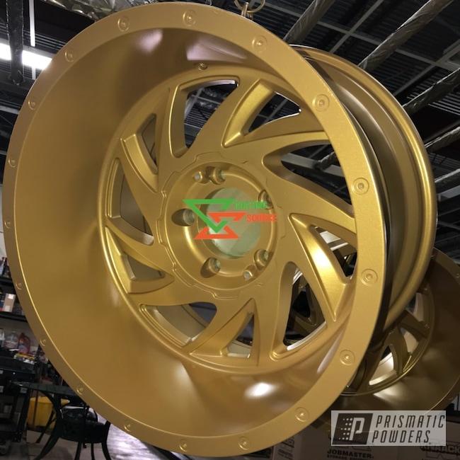 Powder Coating: Wheels,Goldtastic PMB-6625,Powder Coated Wheels