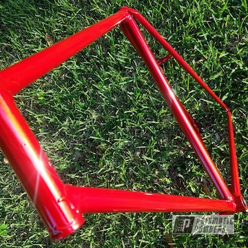 Clear Vision Over Illusion Red Bike Frame