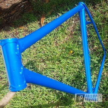 Clear Vision Over Illusion Lite Blue Bike Frame
