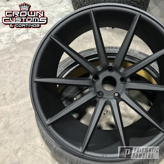 Powder Coating: Wheels,Vossen Wheels,Automotive,Vossen,Black Cast PCS-4721,Textured Finish,Textured