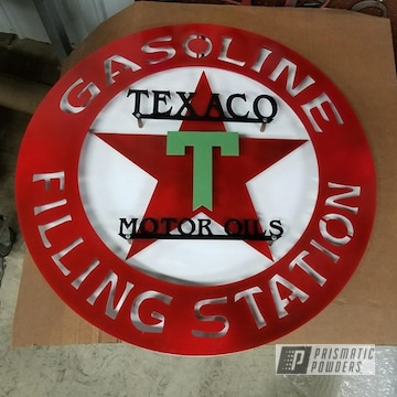 Powder Coated Vintage Texaco Sign