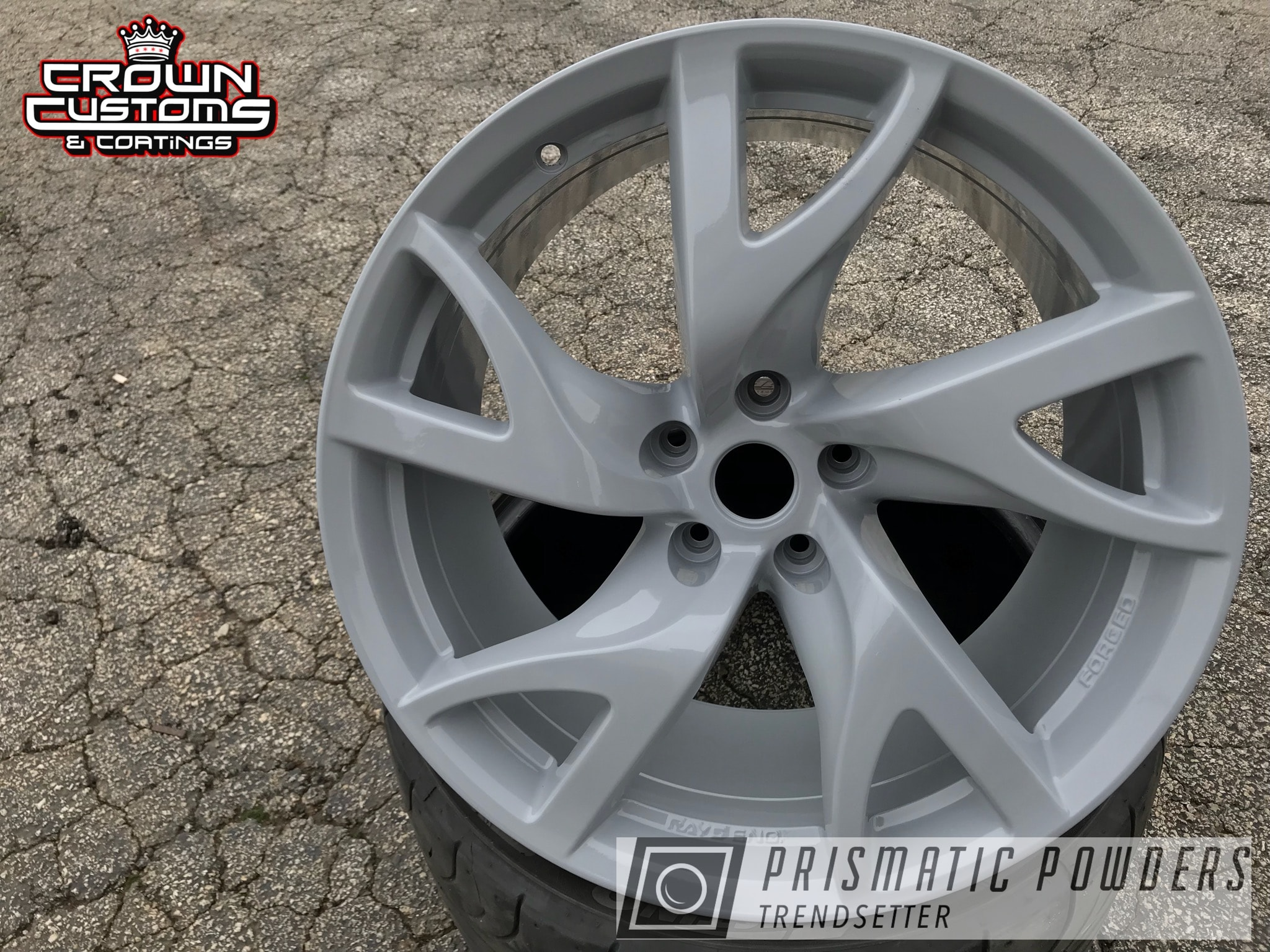 Powder Coating: Wheels,Automotive,370z,Nissan,Nissan 350z,Willow Grey PSS-1750,Nissan Wheels