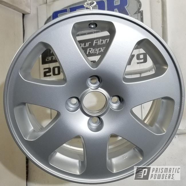 Powder Coating: Wheels,Porsche Silver PMS-0439,Automotive,Custom Wheels
