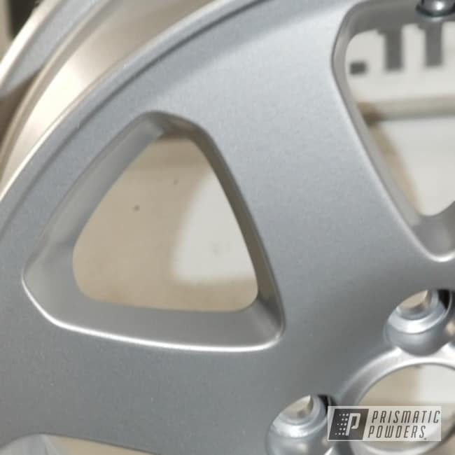 Custom Wheels Coated In A Porsche Silver Powder Coat