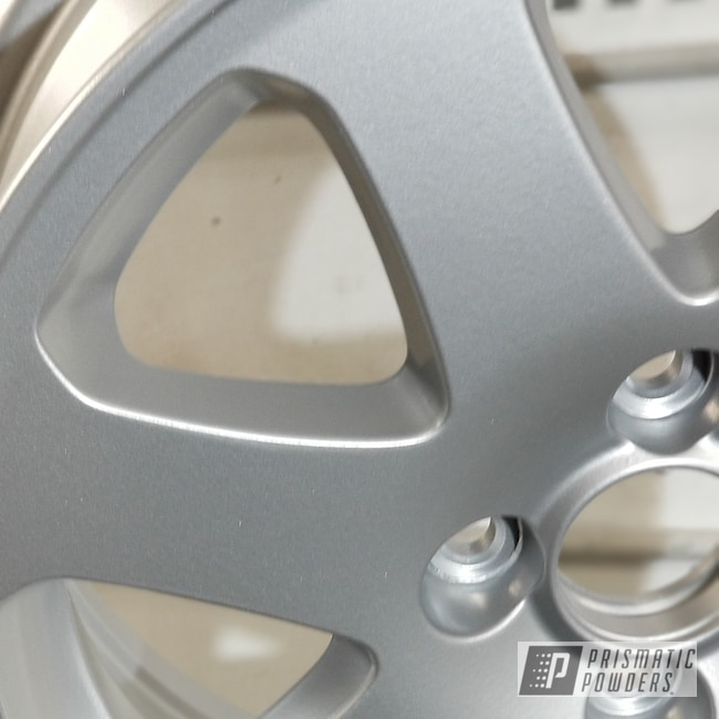 Powder Coating: Wheels,Porsche Silver PMS-0439,Automotive,Custom Wheels