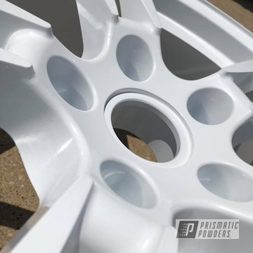 "Porsche 22"" Wheels In A Pearl Sparkle Powder Coating"