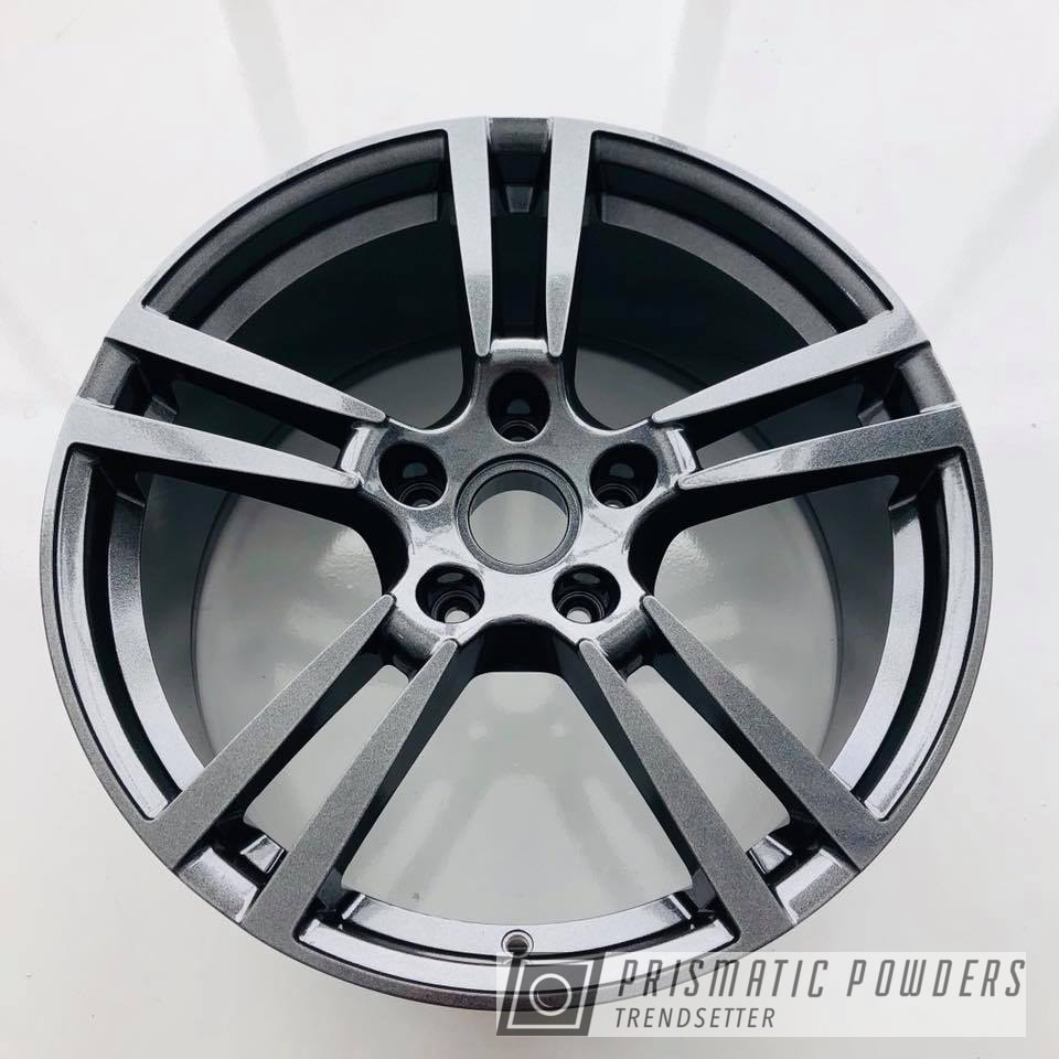 Powder Coating: Wheels,Automotive,wheel,Kingsport Grey PMB-5027,Porsche
