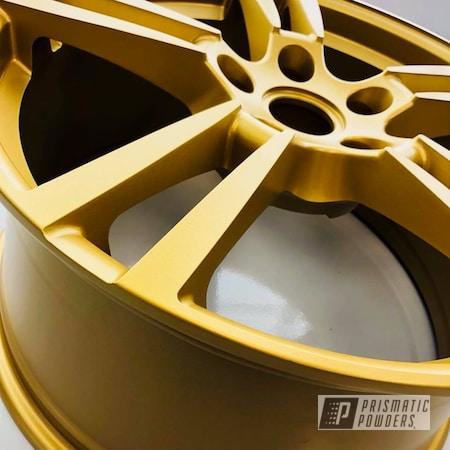 Powder Coating: Wheels,Goldtastic PMB-6625,Automotive,22'',Porsche