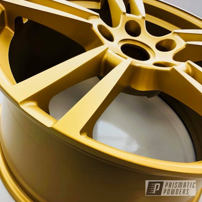 Powder Coating: Wheels,Goldtastic PMB-6625,Automotive,22'',Porsche