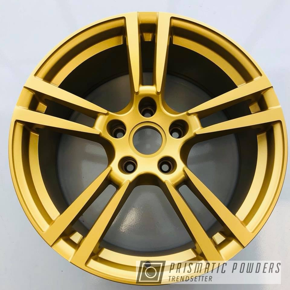 Powder Coating: Wheels,Goldtastic PMB-6625,Automotive,Wheel,22'',Porsche