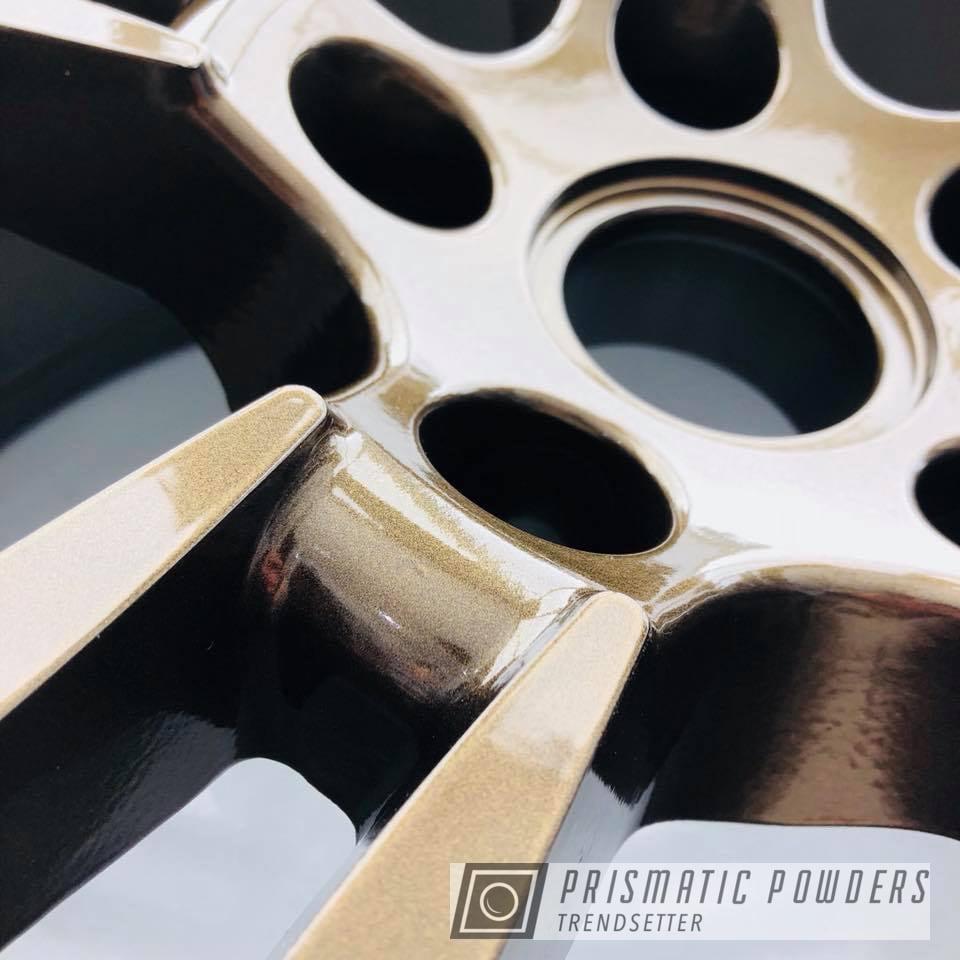 Powder Coating: Wheels,Automotive,Wheel,22'',Bronze Chrome PMB-4124,Porsche