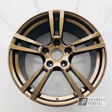 Porsche 22 Inch Wheels In A Bronze Chrome Finish