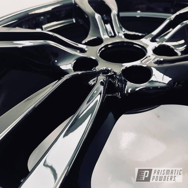Powder Coating: Wheels,Automotive,BMW Wheels,Black,Ink Black PSS-0106,BMW,BMW Rims