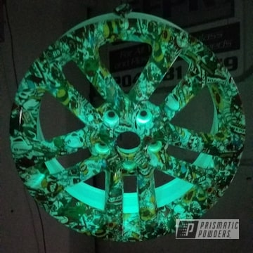 Glow In The Dark Wheel Using Gloss White And Glowbee Clear Top Coat