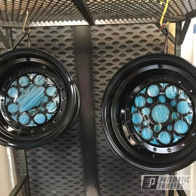 Powder Coating: Wheels,Automotive,Powder Coated Mustang Parts,Custom Auto Parts,GLOSS BLACK USS-2603,Mopar,Custom Automotive Parts,Automotive Parts,Prismatic Powder Coating,Mustang Parts