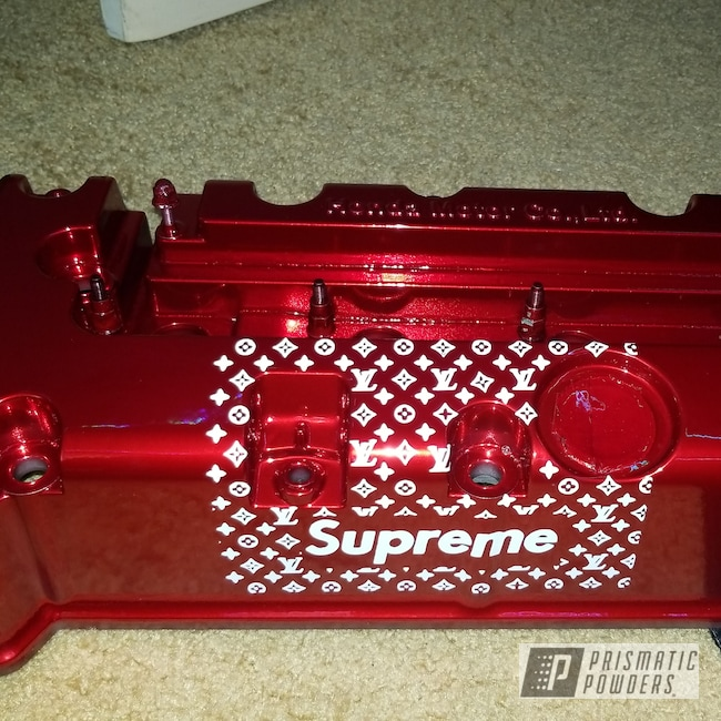 Powder Coating: Automotive,Jolly Rancher Red PPB-6415,K Series Valve Cover,Valve Cover